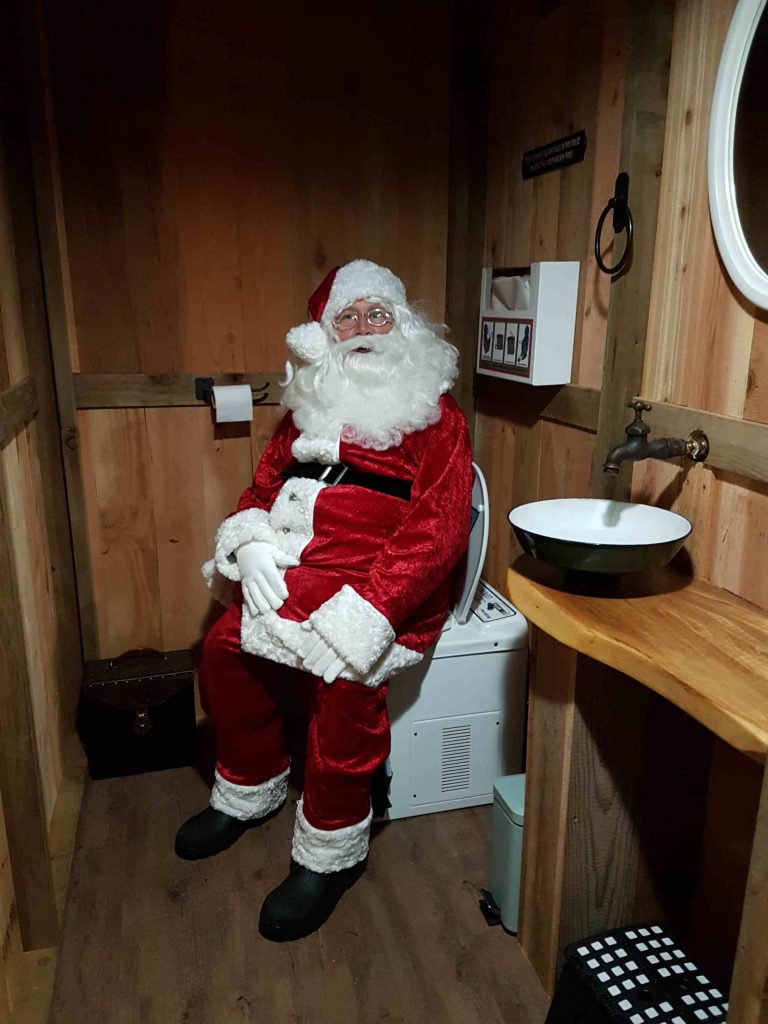 Santa loves the incinerating toilet