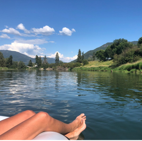 A relaxing float down the river